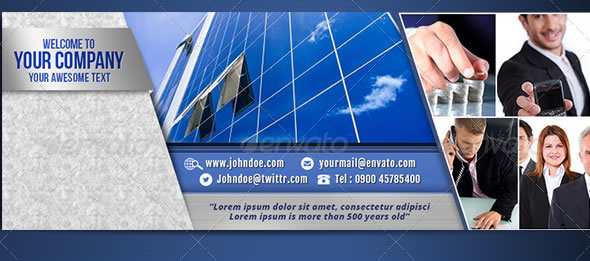 Cool Corporate Facebook Timeline Cover Templates Entheos