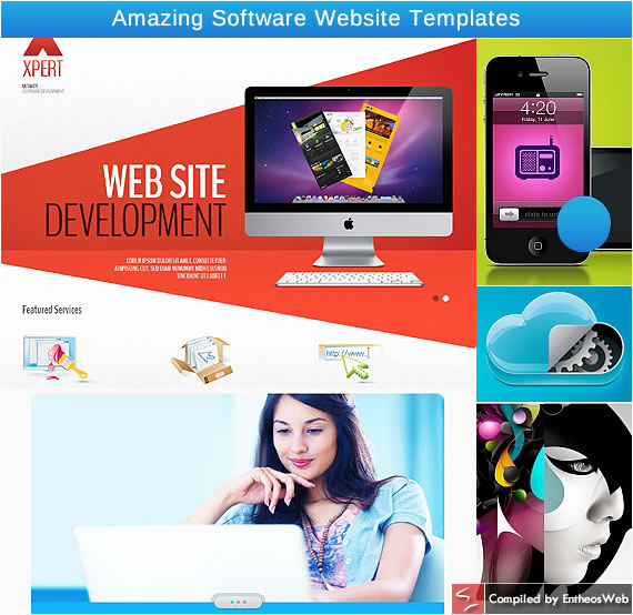 Amazing Software Website Templates