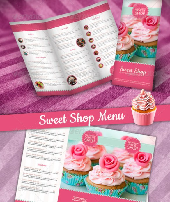 Multi-purpose Sweet Shop Tri-fold Brochure