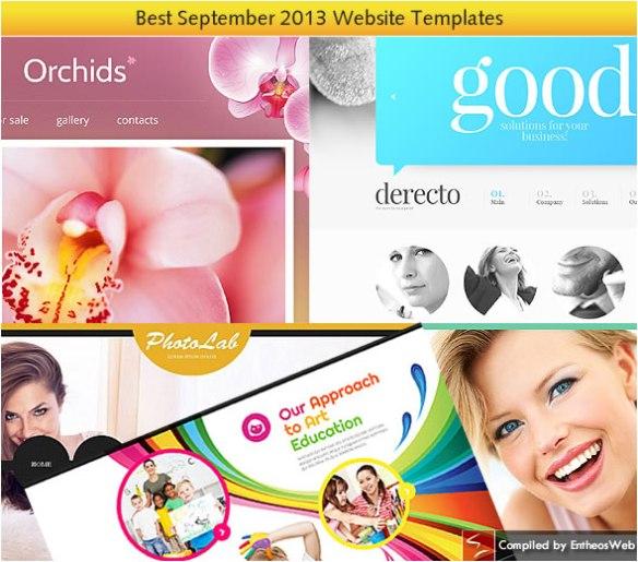 Best Website Templates from September 2013