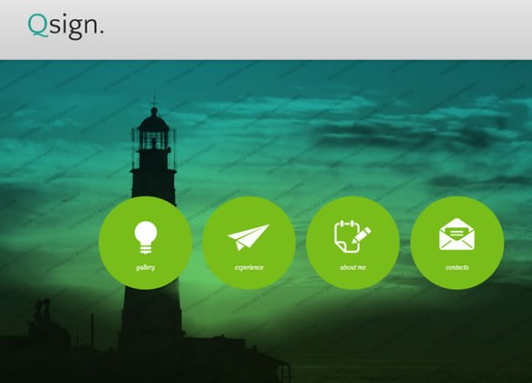 Template 47270 - Qsign Portfolio Website Template