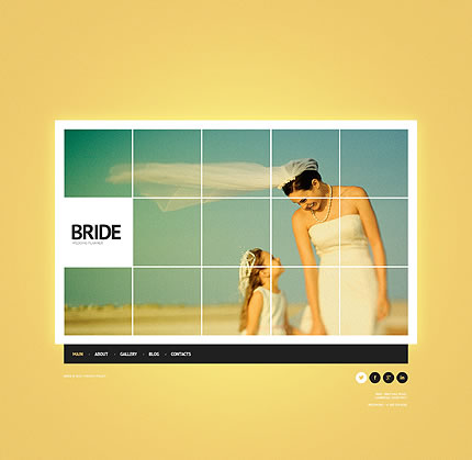 Template 45237 - Bride Wedding Website Template