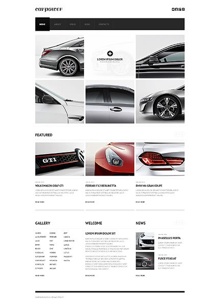Template 44822 - Carpower Cars Responsive Website Template