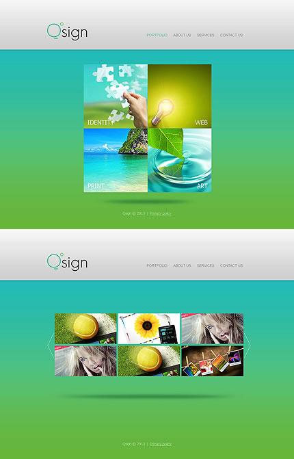 Template 46392 - Qsign Design Moto CMS HTML Template