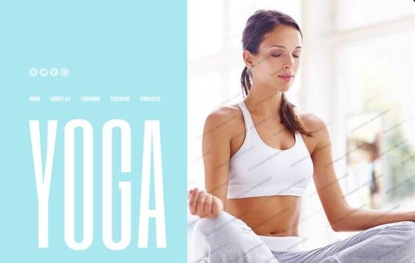 Template 46185 - Yoga Studio Website Template