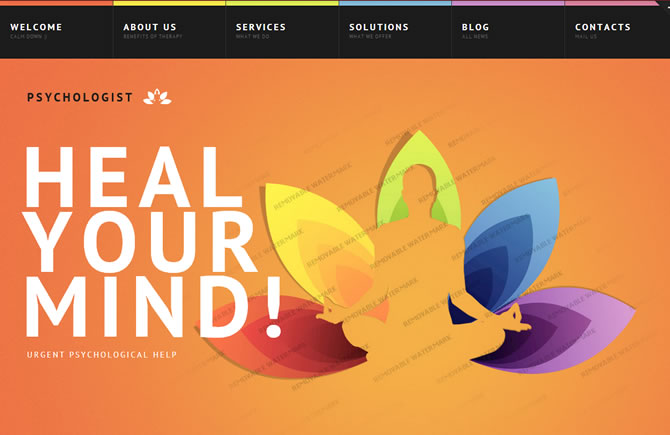 Template 45855 - Psychologist Psychological Website Template
