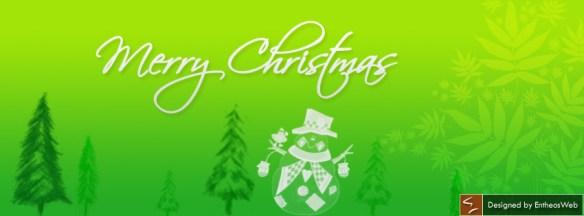 Santa Claus in green background