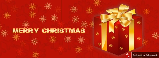 Red and Golden gift box Facebook Timeline Cover