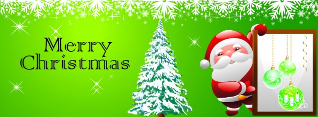 Green themed christmas facebook timeline cover