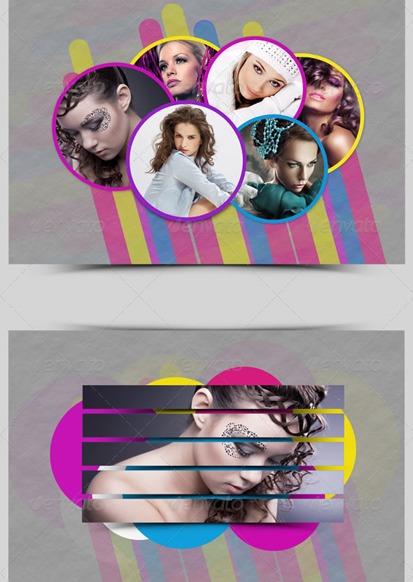 Colorful Photo Frame Template - Pack