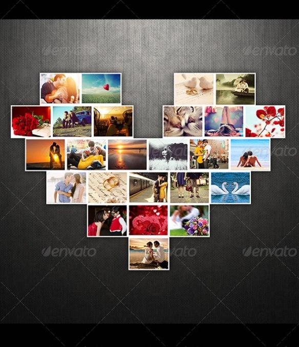 Lovely Heart Photo Template