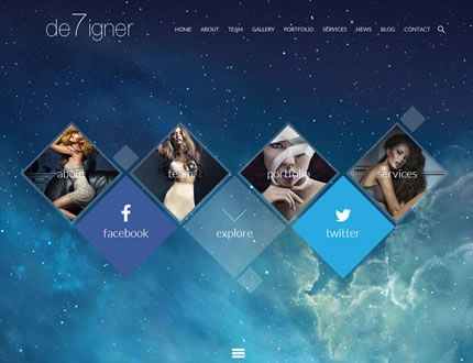 De7igner - Flat iOS7 Inspired OnePage Parallax WP