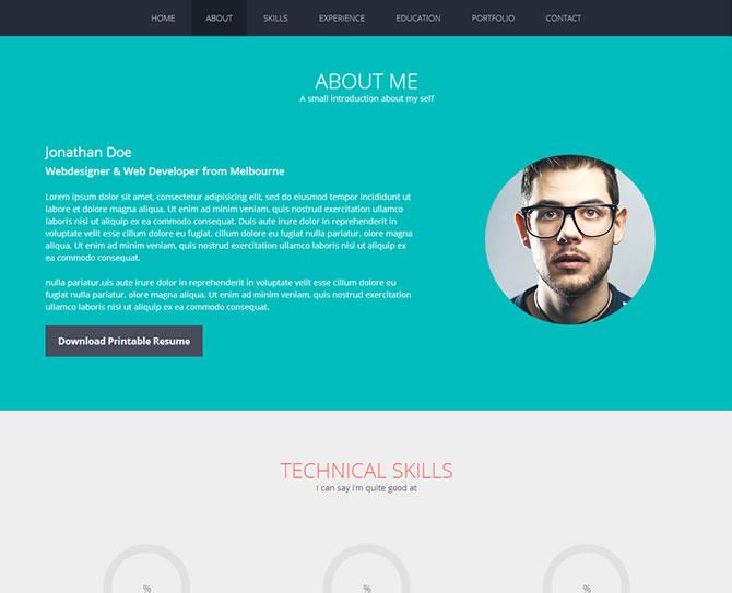 Flato - Responsive Resume, Personal Portfolio Temp