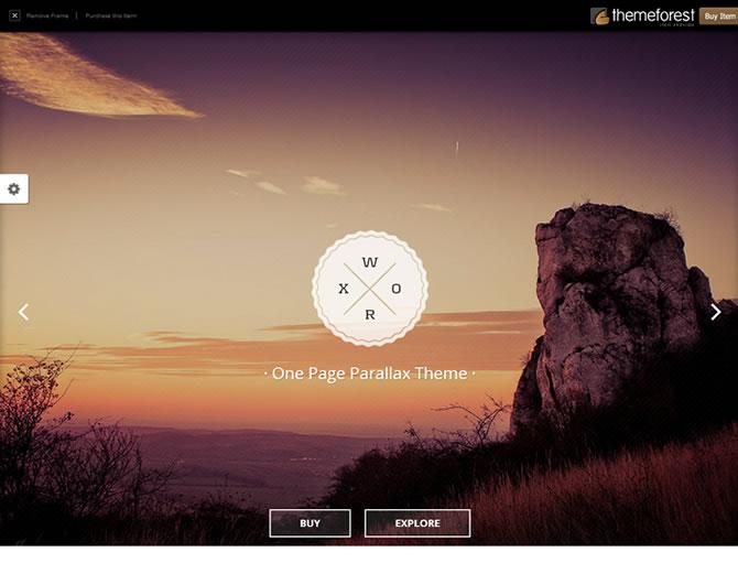 Worx - One Page Parallax Portfolio Template