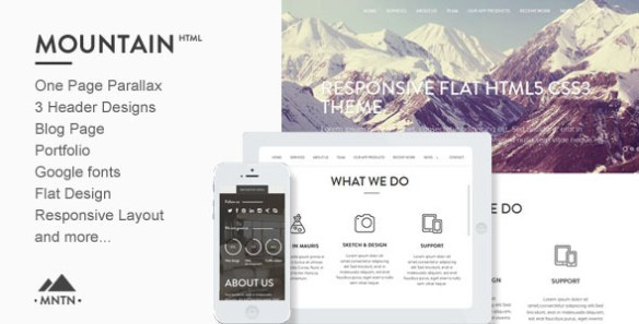 Mountain - One Page Parallax Html Template