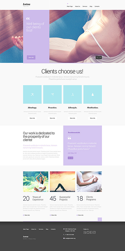 lotus-yoga drupal template