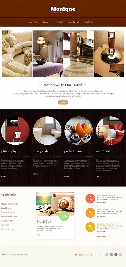 Template 48389 - Hotel Moto CMS HTML Template