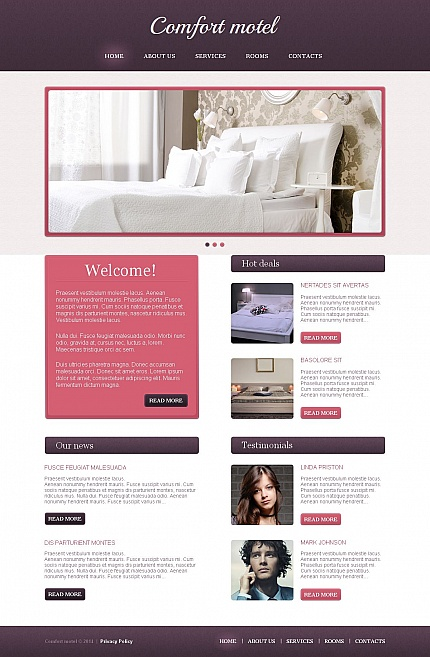 Template 49427 - Hotel Moto CMS HTML Template