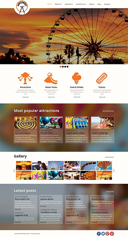 Template 49439 - Amusement Park Moto CMS HTML Template