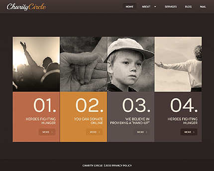 Template 41359 - Charity Circle WordPress Theme