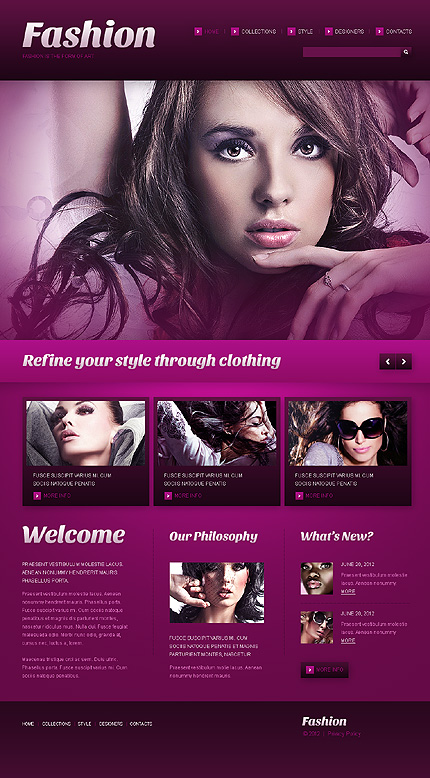 Template 41894 - Fashion Style Responsive WordPress Theme