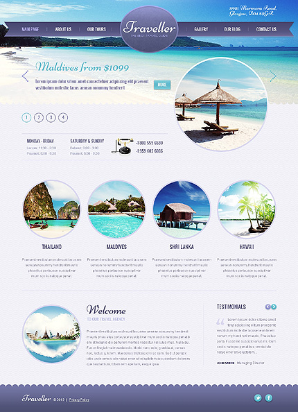 Template 41896 - Outdoorsy Travel WordPress Theme