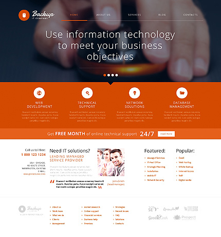Template 47929 - IT Services Responsive WordPress Theme