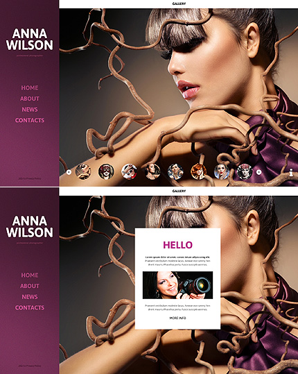 Template 50546 - Art & Photography Javascript Based Website Template