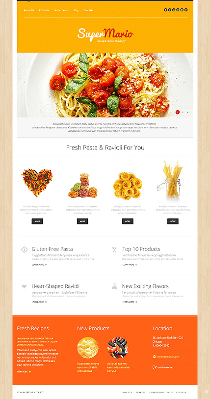 Template 50738 - Food & Restaurant Responsive WordPress Theme