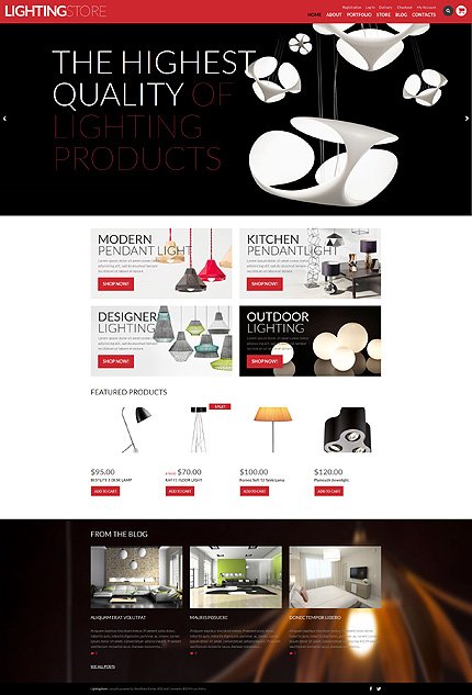 Template 50746 - Lighting Store Responsive WooCommerce Theme