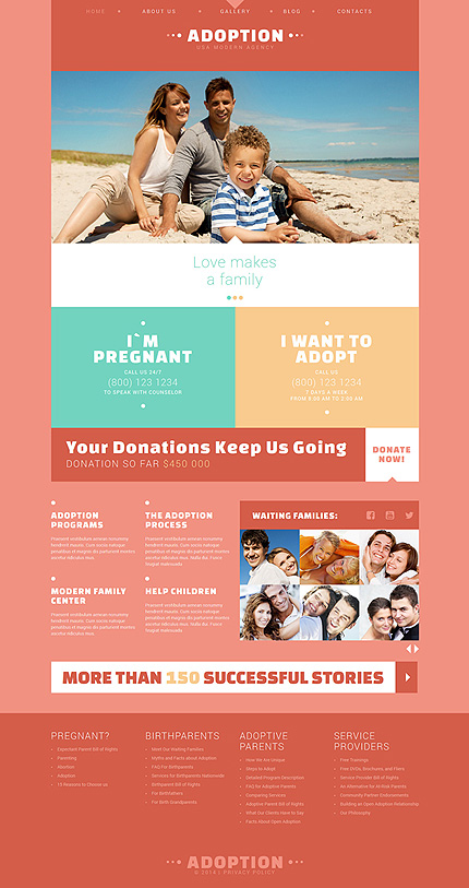 Template 51008 - Adoption Organization Responsive Joomla Template