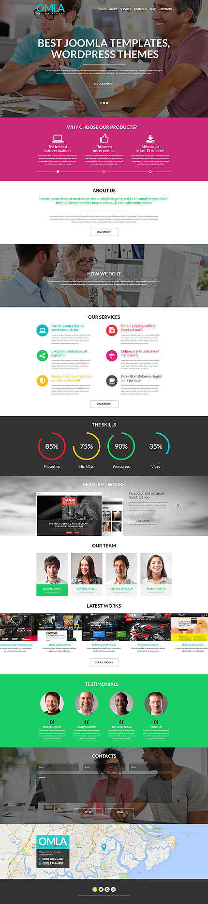 Template 52037 - Design Agency Responsive WordPress Theme with Parallax, Background video, Lazy Load Effect