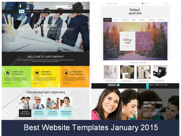 Best Website Templates January 2015