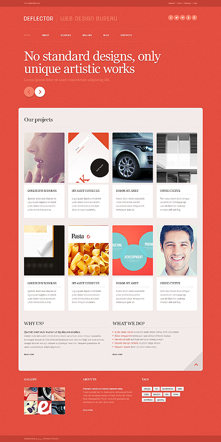 Template 43712 - Web Design Studio Responsive WordPress Theme with Slider, Gallery and Blog