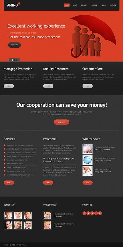 Template 44594 - Insurance Responsive Joomla Template