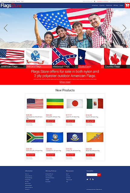 Template 51167 - Flag Store Responsive Magento Theme