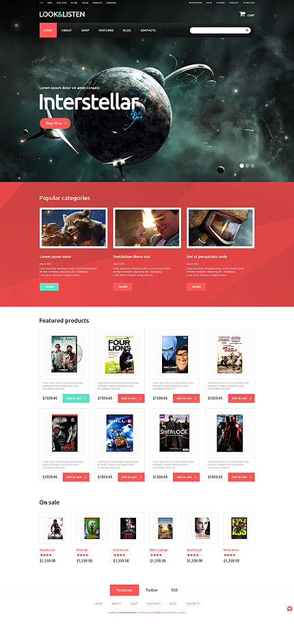 Template 52563 – Video and Games Responsive WooCommerce Theme