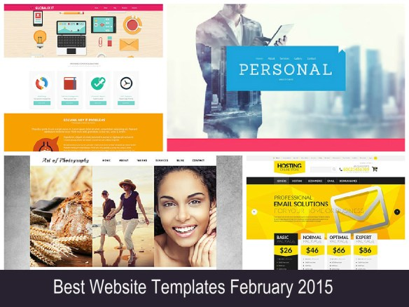 Best Website Templates February 2015