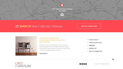 Footer for Template 53093 - Creo Furniture Responsive WordPress Theme