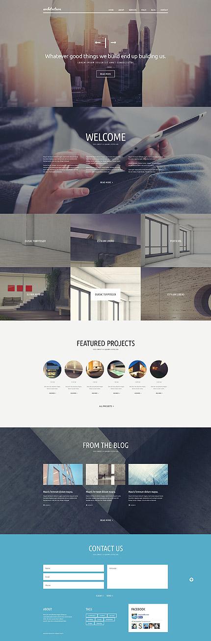 Template 53361 - Architecture Company Responsive Joomla Template