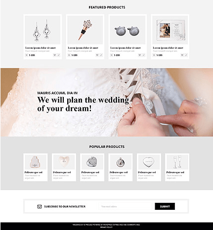 Template 53543 Wedding Store Responsive WooCommerce Theme