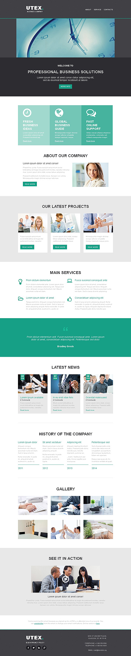 Template 49297 - Business Responsive Newsletter Template