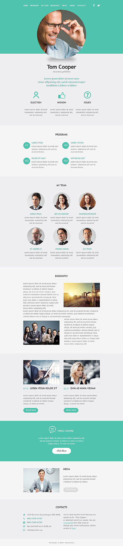 Template 53101 - Political Candidate Responsive Newsletter Template