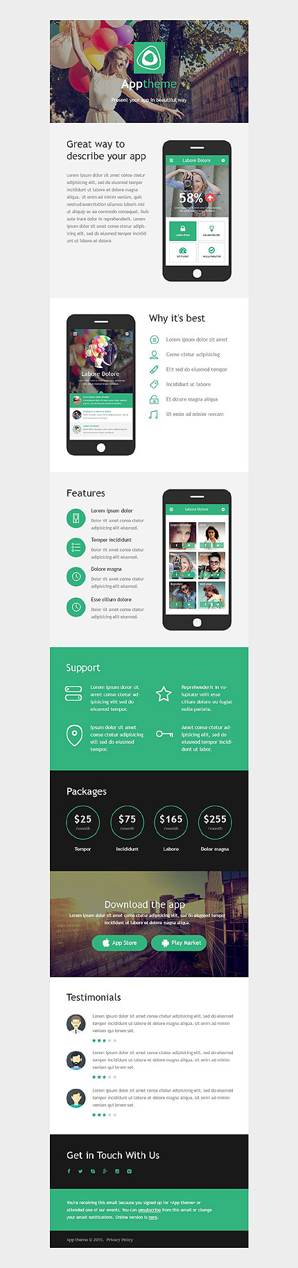 Template 53196 - Apptheme Application Responsive Newsletter Template