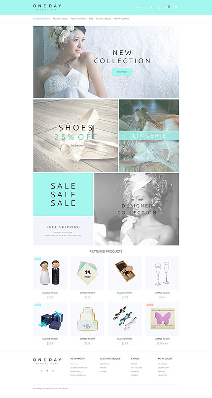Template 53913 - Wedding Collection Responsive OpenCart Template