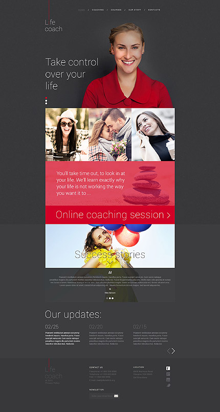 Template 53927 - Life Coach Responsive Website Template