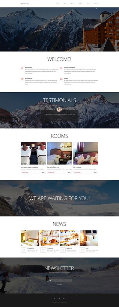 Template 54837 - Ski Hotel Responsive Joomla Template