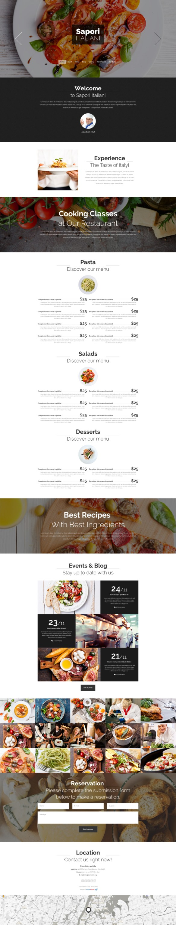 Free Drupal Theme for Restaurants