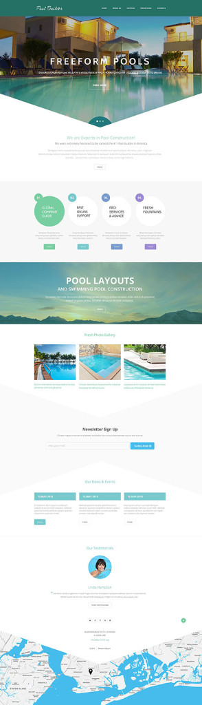 Template 55076 - Pool Builder Responsive Website Template
