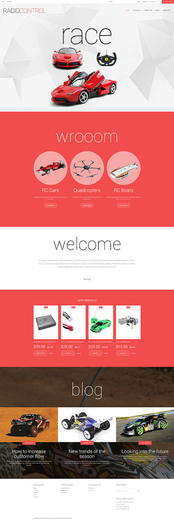 Template 55548 – Radio Controlled Air Race Cars Responsive VirtueMart Template